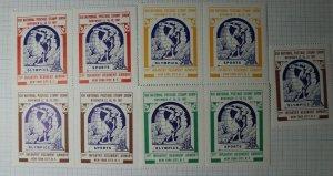 ASDA Natl Postage Show 1961 NY NY Sports Philatelic Souvenir Ad Label