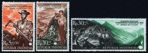 Indonesia SC#B215-217 Wirakarya Scout Camp, Boy Scouts (1968) MNH
