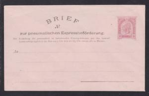 Austria H&G L-B15 mint.1902 30h Pneumatic Post envelope