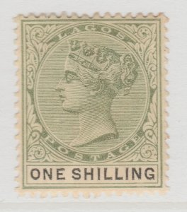 British Colony Nigeria Lagos 1887 1s Wmk Crown CA MH* Stamp A22P19F8983