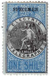 (I.B-CK) Australia Telegraphs : NSW Electric Telegraphs 1/-