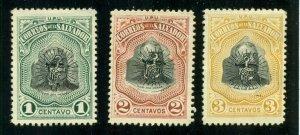 El Salvador 1907 #349-351 MNG SCV (2020) = $0.75