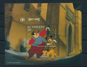 [23257] St. Vincent 1991 Disney Movie The Prince and the Pauper MNH