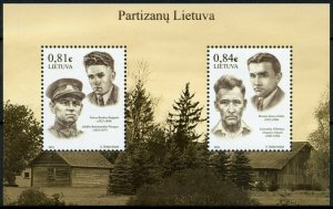 Lithuania Stamps 2021 MNH Lithuanian Partisans Anti-Soviet Resistance 2v M/S