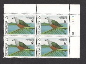 MICRONESIA SC# 109 F-VF MNH 1990 PB/4