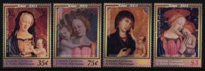 Grenada Grenadines 2502-6 MNH Art, Christmas, Paintings, Madonna & Child