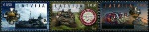HERRICKSTAMP NEW ISSUES LATVIA Sc.# 1024-26 100th Anniv. of Army