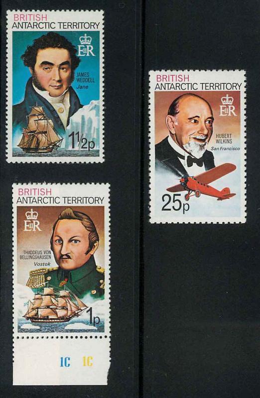 British Antarctic Territory 46-47, 57 Mint VF NH