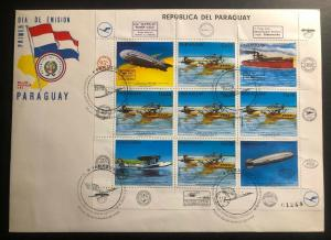 1984 Paraguay First Day Souvenir Cover 50th Anniversary First Zeppelin Flight