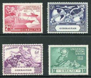 Gibraltar SG136/9 1949 UPU Set m/m
