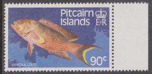 Pitcairn Islands - 1988 90c Fish Wmk Sideways Inverted VF-NH
