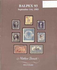 Balpex '93 - Public Auction 188, Bennett 188