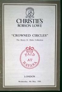Christie's Auction Catalogue CROWNED CIRCLES Henry D Hicks with Prices Realised
