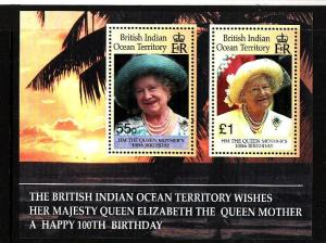 BIOT-Sc#225-unused NH sheet-Queen Mother-100th birthday-2000-
