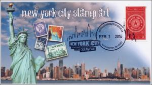 2016, New York City Stamp Art, Washington DC, Pictorial, World Show, 16-013