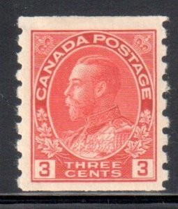 Canada #130 VF MINT LH Coil Single C$100.00 -- Wet Printing