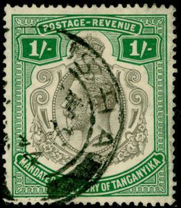 TANGANYIKA SG102, 1s green, FINE used.