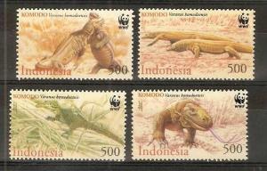 Indonesia MNH 1911-4 Komodo Dragons WWF