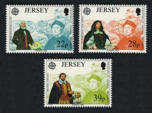 Jersey Europa 500th Anniversary of Discovery of America by Columbus 3v