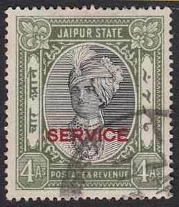 INDIA JAIPUR 1932-37 OFFICIAL 4a SG020 fine used...........................55296