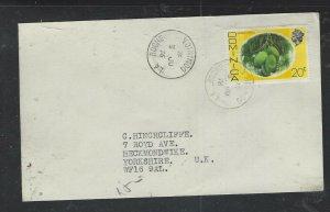 DOMINICA COVER (P1902B) 1976 QEII 20C  LA ROCHE  TO ENGLAND