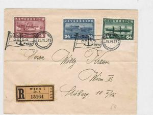 AUSTRIA REGISTERED COVER 1937 TO WIEN , SLOGAN CANCEL  R3121