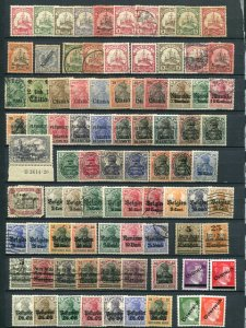 Germany Offices and Occupation lot used and mint F-VF  -  Lakeshore Phila...