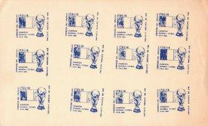 Uruguay 1982 Blue cancel color proof ? postmark Football Soccer Italy champion