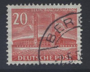 Germany-Occupation- Scott 9N102 -Olympic Stad.-1953- VFU -Single 20pf Stamp-Lot1