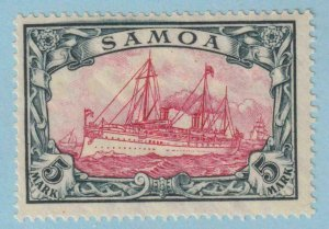 SAMOA 73a   MINT HINGED OG * 26 X 17 HOLES - NO FAULTS EXTRA FINE!