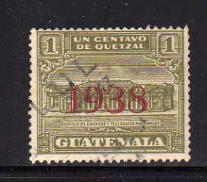 Guatemala RA9 U Post Office and Telegraph Building (C)