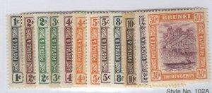 Brunei 43//56 Mint LH Hr 44+46 Toned Gum CV. $161.55 (JH 10/25) GP