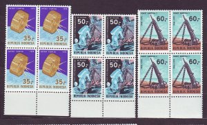 J22757 JLstamps 1972 indonesia set blk 4 mnh #819-21 space $48.00 scv