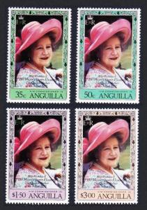 Anguilla 80th Birthday of The Queen Mother 4v SG#411-414 SC#394-397