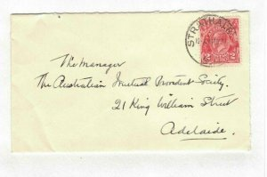 APH1432) Australia 1931 2d Red KGV Die III Small Cover