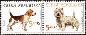 Czech Republic 3150 - Mint-NH - 5.40k Dogs (Pair) (2001) (cv $1.25)