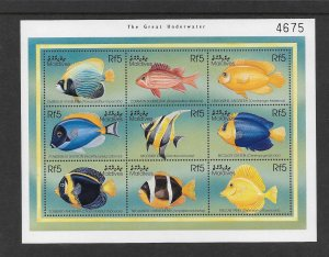 FISH - MALDIVES #2341 THE GREAT UNDERWATER  MNH
