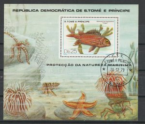 St. Thomas & Prince Islands Used S/S Fish Marine Life 1979