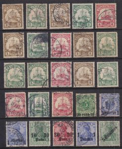 GERMAN COLONIES - INTERESTING USED COLLECTION REMOVED FROM STOCK PAGE - V267