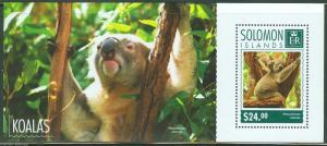 SOLOMON ISLANDS  2014 KOALAS  SOUVENIR SHEET MINT NH