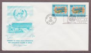 UN # 156 , WHO Headquarters Pair on Artmaster FDC - I Combine S/H