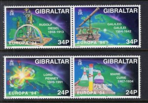 Gibraltar 653-656a Europa MNH VF