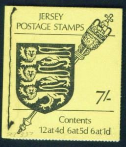JERSEY SG SB2 Coat of Arms and Staff 7sh Booklet 1972