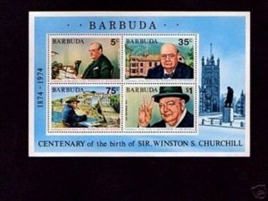 BARBUDA - 1974 - SIR WINSTON CHURCHILL - WW II - VICTORY - MINT MNH S/SHEET!
