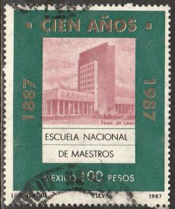 MEXICO 1473, TEACHERS' COLLEGE CENTENNIAL.USED.  F-VF. (934)