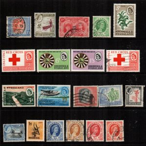 Rhodesia  20  different used and mint