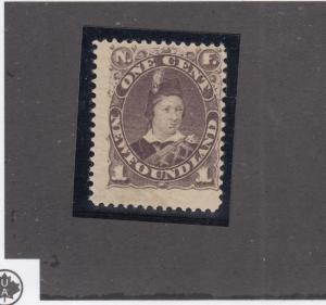 NEWFOUNDLAND # 43 FINE-MNH 1ct PRINCE OF WALES CAT VALUE $240
