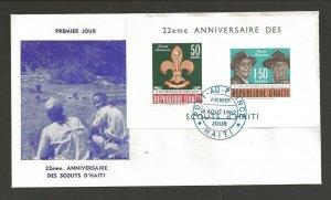 1962 Haiti Boy Scouts 22nd anniversary BP SS FDC
