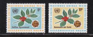 UN - NY # 158-159, Coffee Agreement, Mint NH, 1/2 Cat.