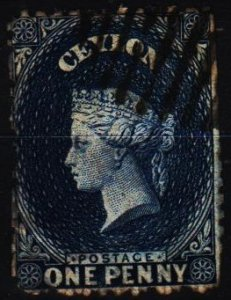 Ceylon. 1861 1d S.G.49 Fine Used